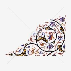 کاشی کاری گل و اسلیمی