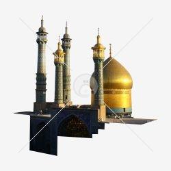 گنبد و گل دسته حرم حضرت معصومه (س)