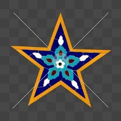 موتیف ۵ ضلعی ستاره شکل