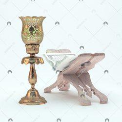 رحل قرآن و چراغ لاله ۳D