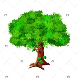 درخت فانتزی وکتور