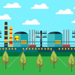 وکتور پایگاه تولید برق