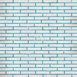 دیوار آجری سفید و فیروزه ای
