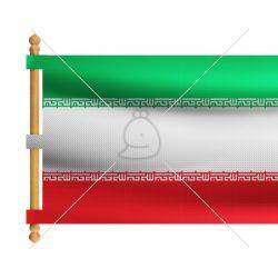 ۴ تصویر پرچم کتیبهای ایران در ۴ حالت مختلف